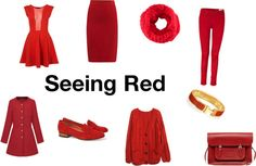 """Trend for Fall: Red!"" by thestylebarn on Polyvore"
