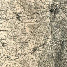 Darmstadt Map - 1893