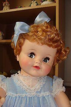 Madame-Alexander-Rare-28-Baby-Genius-Strawberry-Blonde Old Dolls, Antique Dolls, Vintage Dolls, Vintage Madame Alexander Dolls, Judy Garland, Kewpie, Strawberry Blonde, Collector Dolls, Beautiful Dolls
