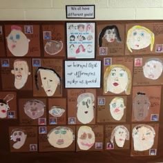 Myers' Kindergarten: We Are Alike, We Are Different – kindergarden Kindergarten Self Portraits, Kindergarten Social Studies, Preschool Art, Kindergarten Activities, Art Activities, Diversity Activities, Reggio Emilia Preschool, Montessori Activities, Winter Activities