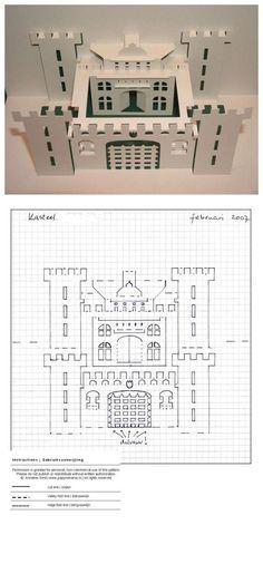 立体卡片--城堡