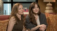 And then two more. | Dakota Johnson And Leslie Mann Hilariously Hit On A Hot Reporter