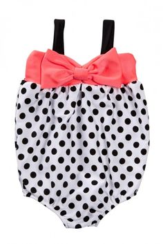 1 Piece Polka Dot Swimsuit (Baby Girls)