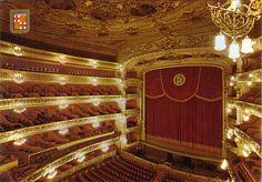 This is the Liceo in Barcelona. This magnificent theater burned down and has been rebuilt since I sang there.