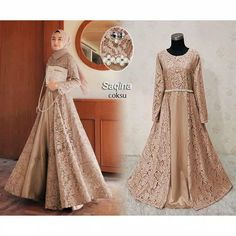 Muslimah Wedding Dress, Muslim Wedding Dresses, Muslim Dress, Dress Brukat, Hijab Dress Party, Dress Outfits, Hijab Outfit, Muslim Fashion, Hijab Fashion
