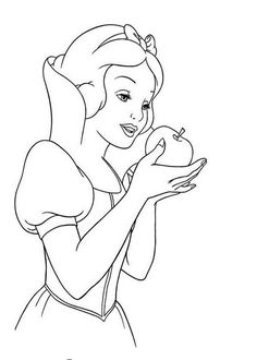 Snow White Apple Coloring Pages