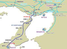 兵庫県の南に位置する瀬戸内海最大の島。北の明石海峡大橋で本州と、南の鳴門大橋で四国とつながっています。神戸や大阪、香川や徳島への観光にも便利です。