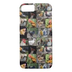 Chickens And Roosters Photo Collage iPhone 8/7 Case - photo gifts cyo photos personalize