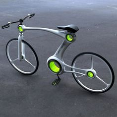Flexi-Bike by Hoon Yoon - Sporting an informative LED display, the bike is quite whimsical in its style and approach.