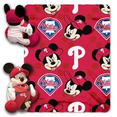 Philadelphia Phillies MLB Mickey Mouse with Throw Combo