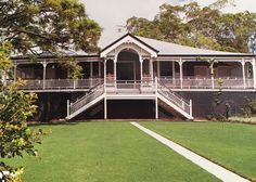 Australian Architecture, Australian Homes, Country Farm, Country Houses, House Front, Front Deck, Queenslander House, Cedar Homes, Hamptons House