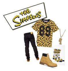 """Simpsons theme"" by dapreesha on Polyvore featuring Joyrich, WeSC, Neff, Timberland, men's fashion and menswear"