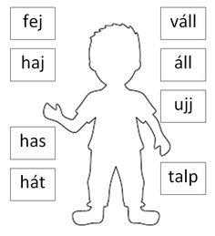 Első osztályban kb. november-decembertől használható nyomtatható, kiegészíthető, színezhető  feladatlap, amely lehetőséget ad a testséma fejlesztésére is. Cicely Mary Barker, Fun Activities For Kids, Bingo, Kids And Parenting, Montessori, Coloring Pages, Album, Teaching, School