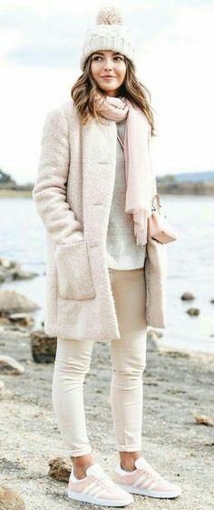 pastel pink and white khaki pants.