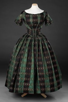 Evening dress, British, mid-late 1840's. The John Bright Collection, nr. ?