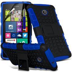 ( Blue ) Nokia Lumia 530 Case Stylish Designed Case Tough Survivor Hard Rugged Shock Proof Heavy Duty Case W/ Back Stand, LCD Screen Protector Guard, Polishing Cloth & Mini Retractable Stylus Pen by Fone-Case Fone-Case http://www.amazon.com/dp/B00R7U01TQ/ref=cm_sw_r_pi_dp_QewSub1VJYFQZ