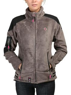 #Sweat-shirt pour femme avec capuche - 100% polyester - fermeture à glissière - deux poches Geographical Norway, Armani Jeans, Sweat Shirt, Polyester, Moschino, Motorcycle Jacket, Calvin Klein, Athletic, Jackets