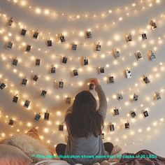 LED Photo Clip String Lights Holder Fairy Lights for Hanging Photos Pictures Cards Memos, RGB Warm White Decoration Light Led String Lights, String Lights Bedroom, Bedroom Fairy Lights, Room Lights Decor, Christmas Lights Bedroom, Lights For Room, Battery Lights, Cool Lights For Bedroom, Light String