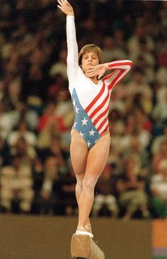 1984 Summer Olympics USA Mary Lou Retton in action during balance beam event at Pauley Pavilion Los Angeles CA 8/1/1984