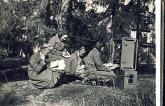 """Maavoimat Lotta Svard Signals personnel operating a """"B-Radio"""" – Summer 1940... the Lotta Svard volunteers made a substantial contribution to the Maavoimat's combat strength, freeing up enough men to form an additional 3 Regimental Battle Groups, Finland"""