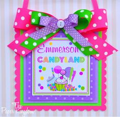 Hey, I found this really awesome Etsy listing at https://www.etsy.com/listing/87663401/candyland-door-sign-deluxe-welcome-sign