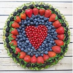 Valentine's Day heart shape mix colorful fruits decoration `````Love is in the air ```