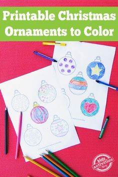 Printable Christmas Ornaments {Free Kids Printable}