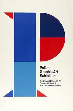 Polish graphic art exhibition poster — reminds me of De Stijl, neh..?