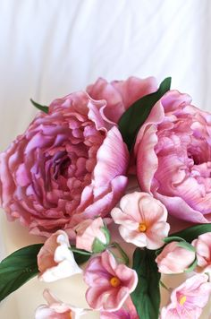 Pink Gumpaste Peonies