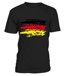 Germany Flag Vintage Graffiti Support T-Shirts