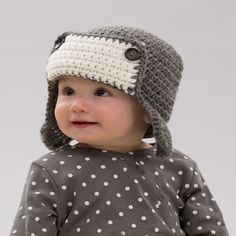 Little Lindy's Aviator Hat Free Crochet Pattern