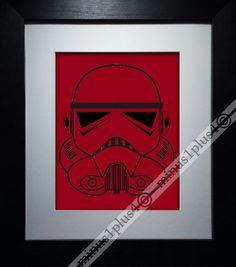 Star Wars print stormtrooper art poster home decor by Minus1Plus4, $15.00