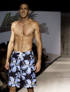 Here is the debut of the Return to Blue Leggoon board shorts on the runway at Omaha Fashion Week. To model your very own click here http://leggoons.myshopify.com/collections/frontpage/products/deep-blue-something. The board shorts are only $35. The model is priceless.