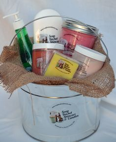 Soap Bucket Gift Pack $39.99 An amazing value and a wonderful gift. http://www.soapbucketskincare.com/soap-bucket-gift-bucket/