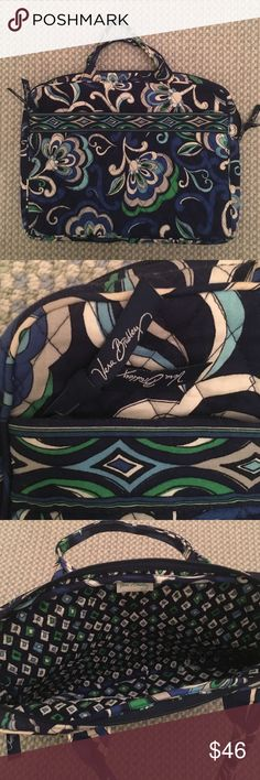 Vera Bradley Laptop Case/Carrier Hardly used Vera Bradley Laptop Case. It's the perfect way to carry your laptop to work or school. It has an outside zip pouch and carrier handles. Beautiful retired pattern. Used only once. Zippers fully. Vera Bradley Bags Laptop Bags