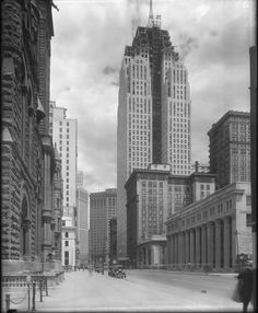 Construction of the Penobscot Building, Detroit