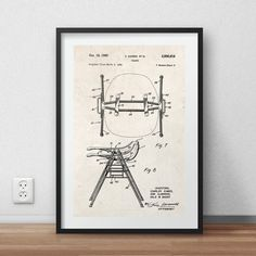 Eames chair patent Poster DIGITAL PRINTABLE by StudiousCrafts