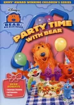 Bear in the Big Blue House: Party Time With Bear Bear Birthday, Birthday Bash, Big Blue House, Sing Along Songs, Disney Bear, Celebrate Good Times, Childhood Movies, Bear Party, Kids Tv Shows