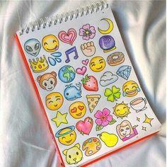 art, color, cute, drawing, emoji, journal, sketch