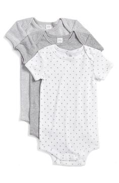 Nordstrom Baby Cotton Bodysuits (3-Pack) (Baby) available at #Nordstrom