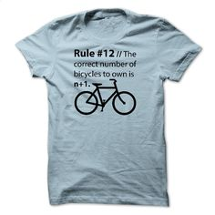 The correction number of bicycles to own is n+1 T Shirts, Hoodies, Sweatshirts…