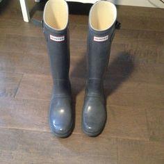 Grey Gray Hunter Rain Boots Sz 9 EU 40 41 | eBay $66
