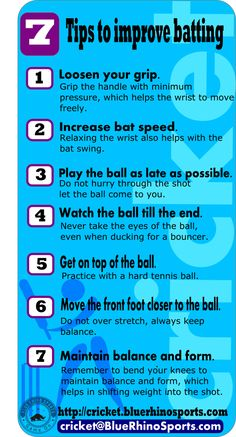 Cricket batting tips and techniques