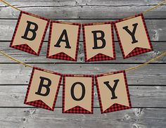 Lumberjack, Buffalo Plaid Baby Shower Decorations – Lumberjack Banner – Print at Home – Site Today – babyshower Baby Shower Winter, Baby Boy Shower, Baby Shower Gifts, Baby Showers, Baby Banners, Baby Shower Banners, Shower Bebe, Camp Shower, Shower Party
