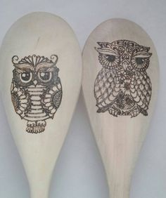 Check out this item in my Etsy shop https://www.etsy.com/listing/401133433/owls-12-inch-wood-burned-spoon-set