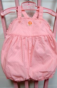 Vintage Baby Clothes/Baby Girl Romper by OnceUponADaizy on Etsy, $12.00