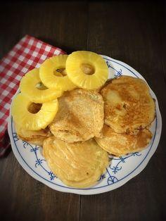 Ananas im Pfannkuchenmantel, Ananas im Teigmantel, Ananas Pfannkuchen Thermomix