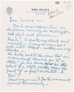 Frank Lloyd Wright - Autograph Letter Signed. This and more rare manuscripts for sale on the CuratorsEye.com