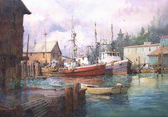 "Ashford-in-the-Water, Derbyshire, England  14"" x 21"" image watercolor  SOLD         Gig Harbor, Washington  14"" x 20"" image watercolor   ..."