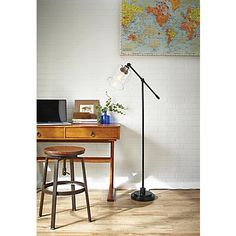 Make a bold lighting statement with this classically attractive CANVAS Quinn Floor Lamp. The industrial design makes this fixture a standout with its cool, clea Canadian Grand Prix, Canadian Tire, Desk Lamp, Table Lamp, Industrial Design, Floor Lamp, Outdoor Living, Lighting, Canvas